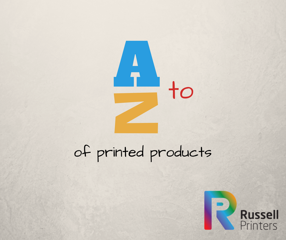 A to Z of printed products